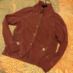Pink Cotton Jersey Prana Jacket